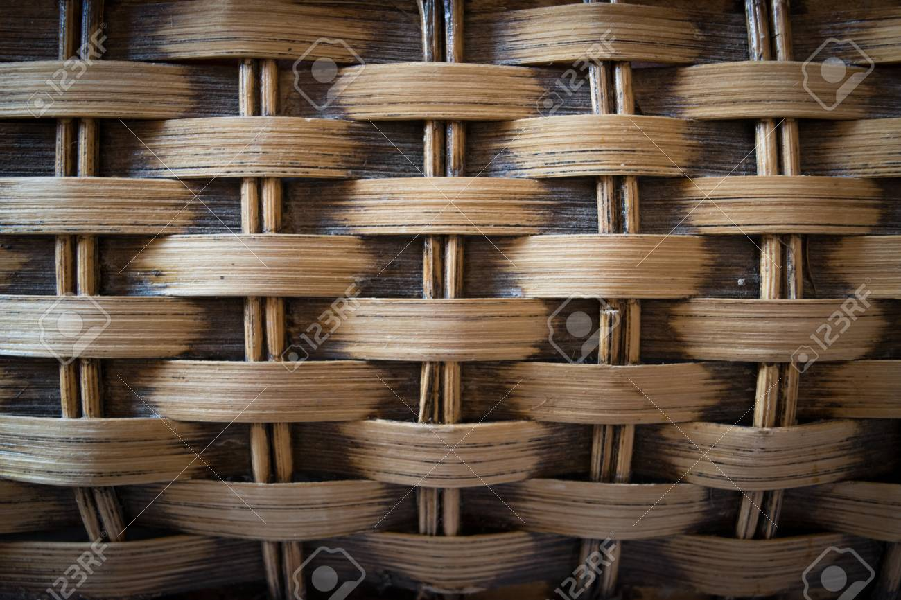 old grunge bamboo weaving with vignete low light Stock Photo - 55798531 & Old Grunge Bamboo Weaving With Vignete Low Light Stock Photo ...