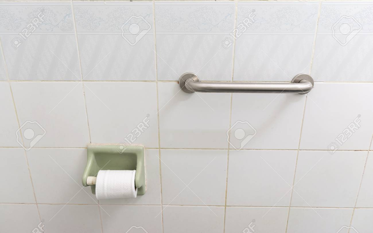 Grab Bar Handrail In A Bathroom .concept Safety In The Bathroom ...