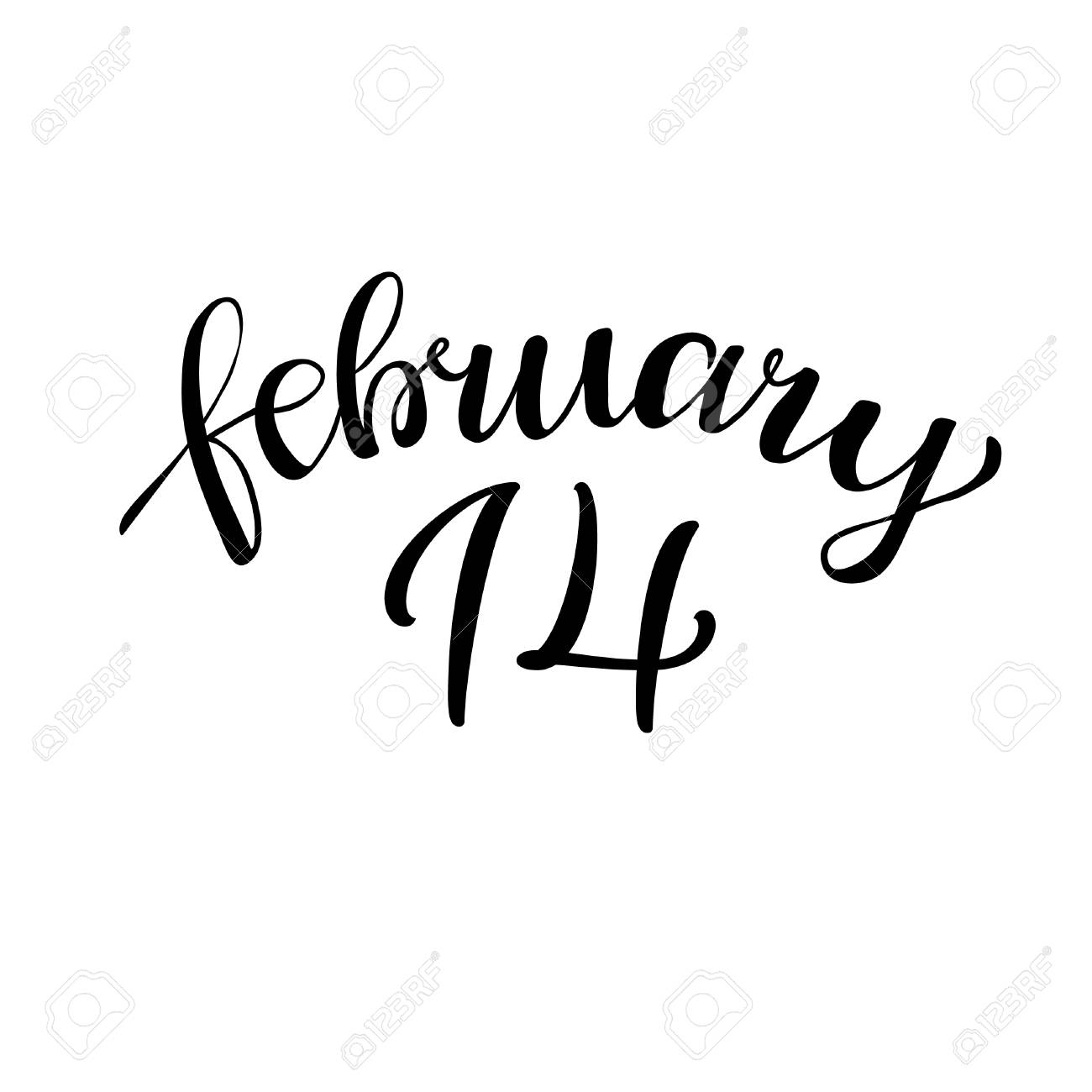 14 February Hand Lettering Vintage Quote Modern Calligraphy