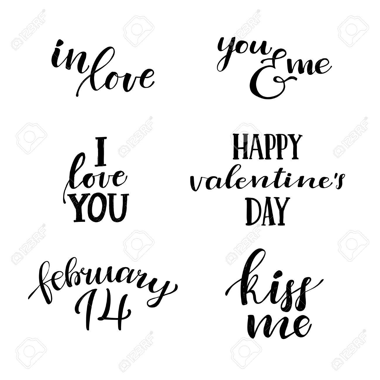 Love You More Quotes I Love Youhand Lettering Vintage Quotes About Lovemodern