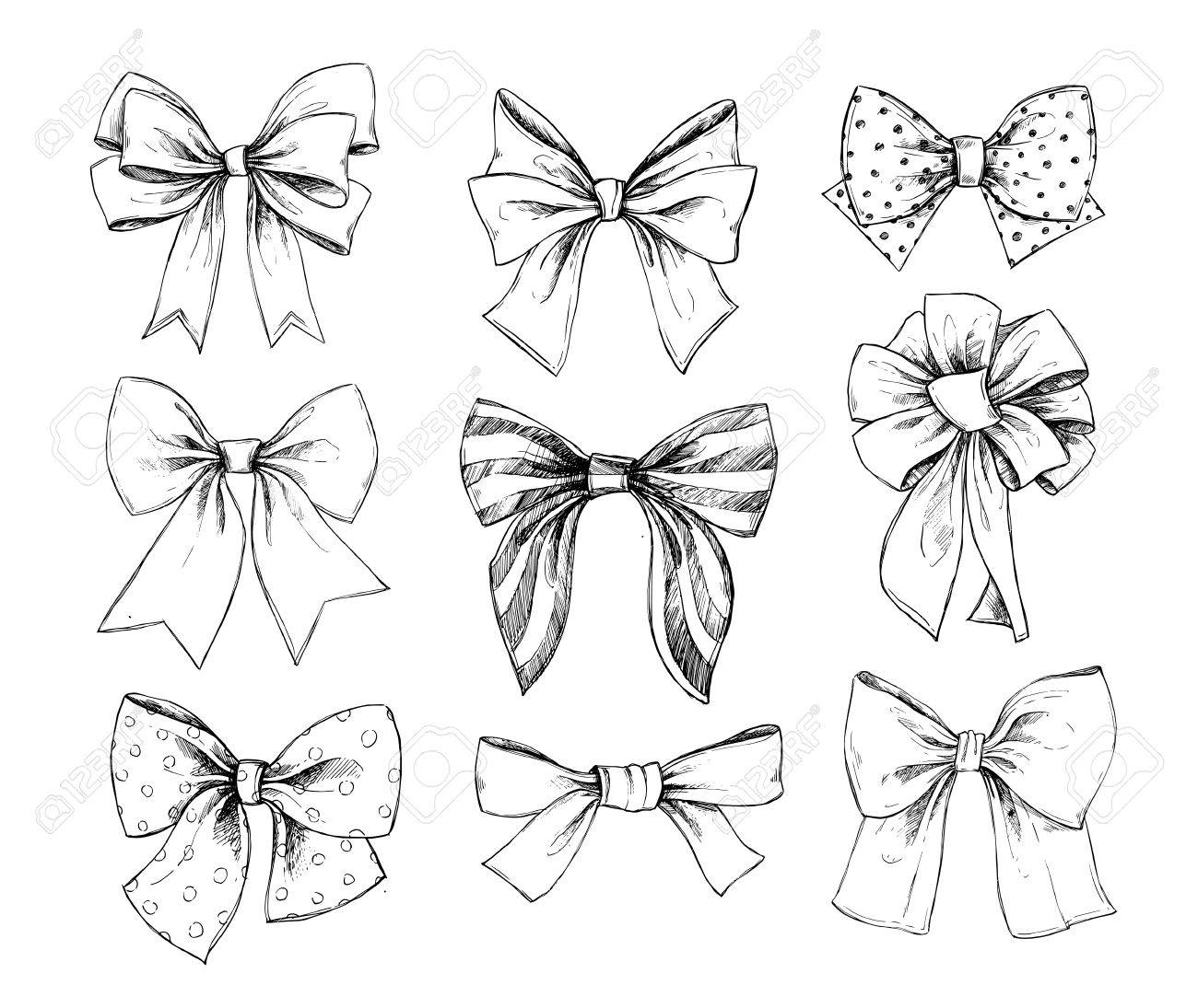 Hand drawn vector illustrations different types of bows perfect hand drawn vector illustrations different types of bows perfect for invitations greeting cards m4hsunfo