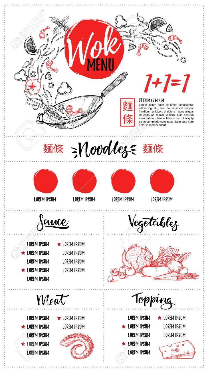 手書きのベクトル イラスト アジア料理カリグラフィのフレーズと鍋