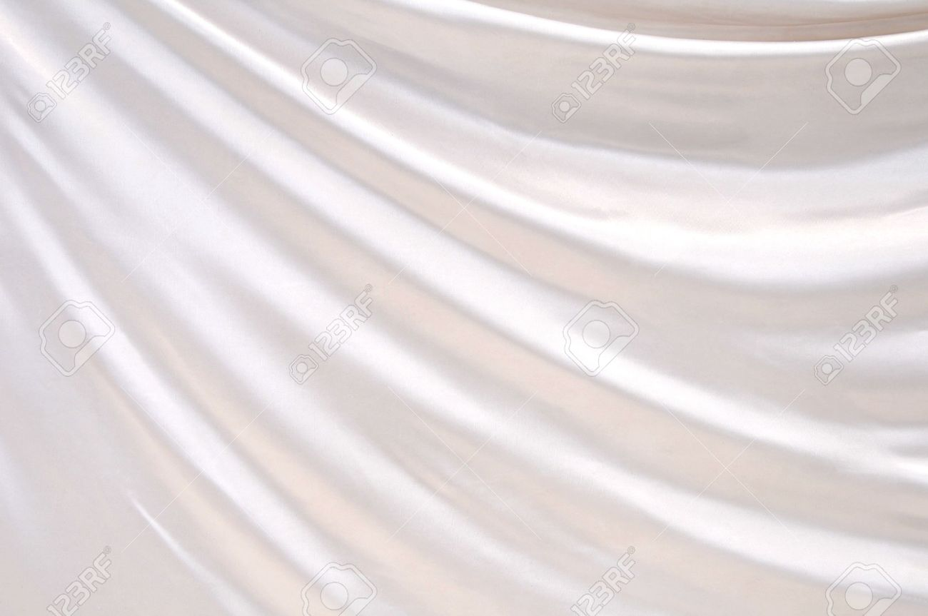 Smooth elegant white silk can use as background - 15228972