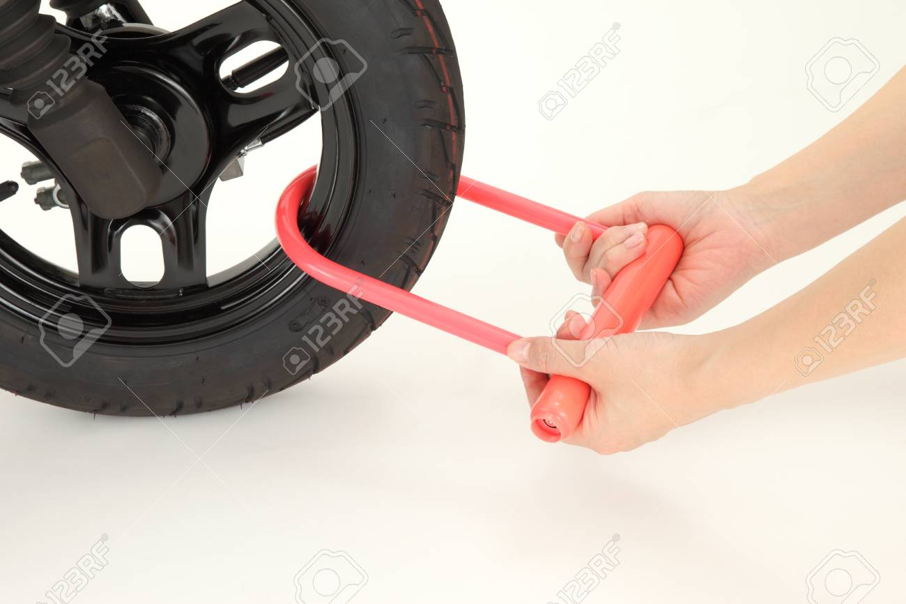 Key attached to a motorcycle tire Stock Photo - 15552165