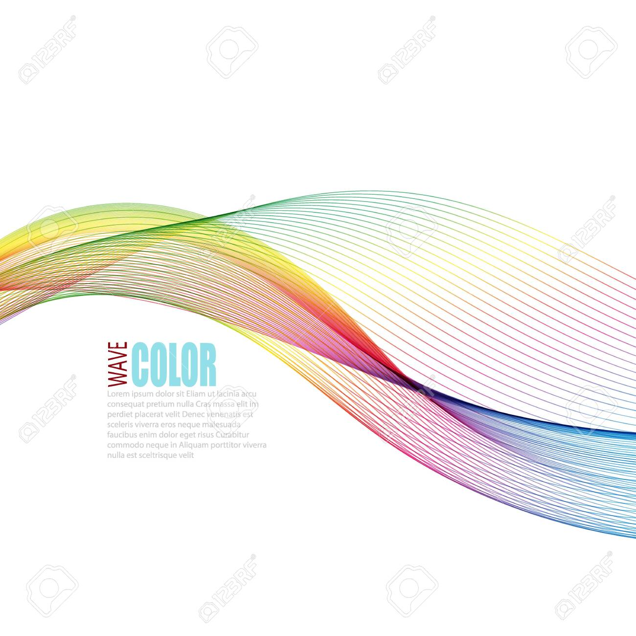 Abstract vector colorful background with transparent smoke - 144839434