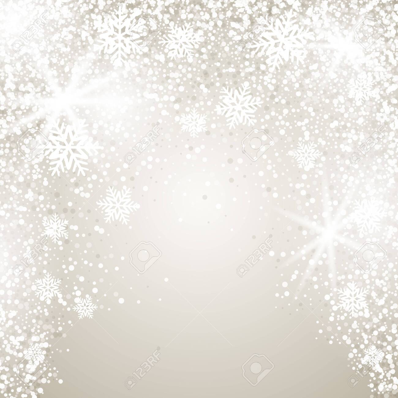 Elegant Christmas background with snowflakes and place for text. Vector Illustration. - 149625936