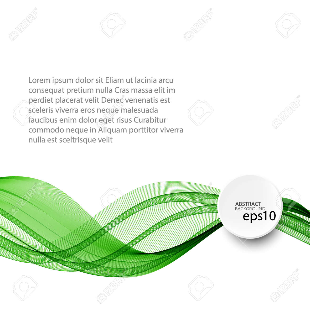 Abstract green wave vector background, horizontal wavy wave lines on white background eps10 - 150398294