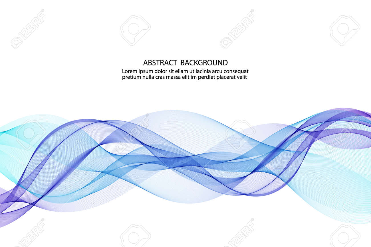 abstract blue business technology colorful wave vector background - 155842225