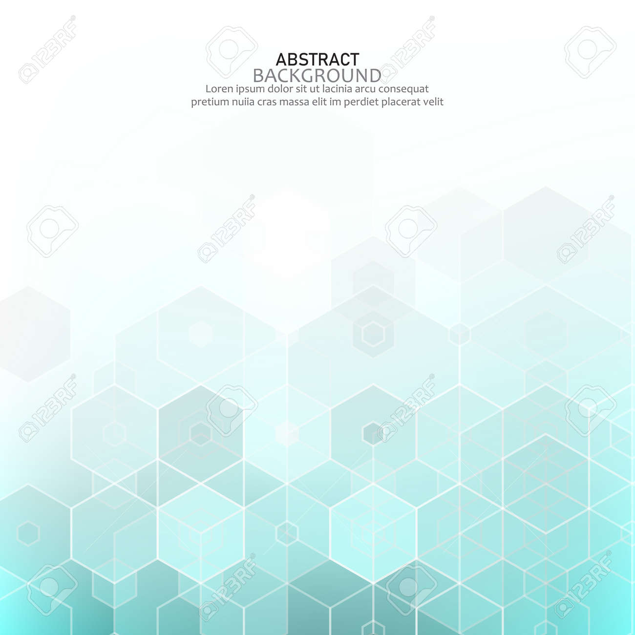 Vector Abstract geometric background. Template brochure design - 159044179