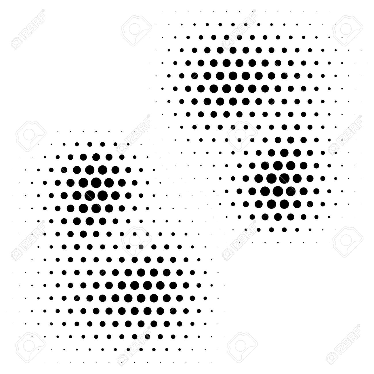Halftone design background. Monochrome halftone pattern. Abstract geometric dots background. - 168461130