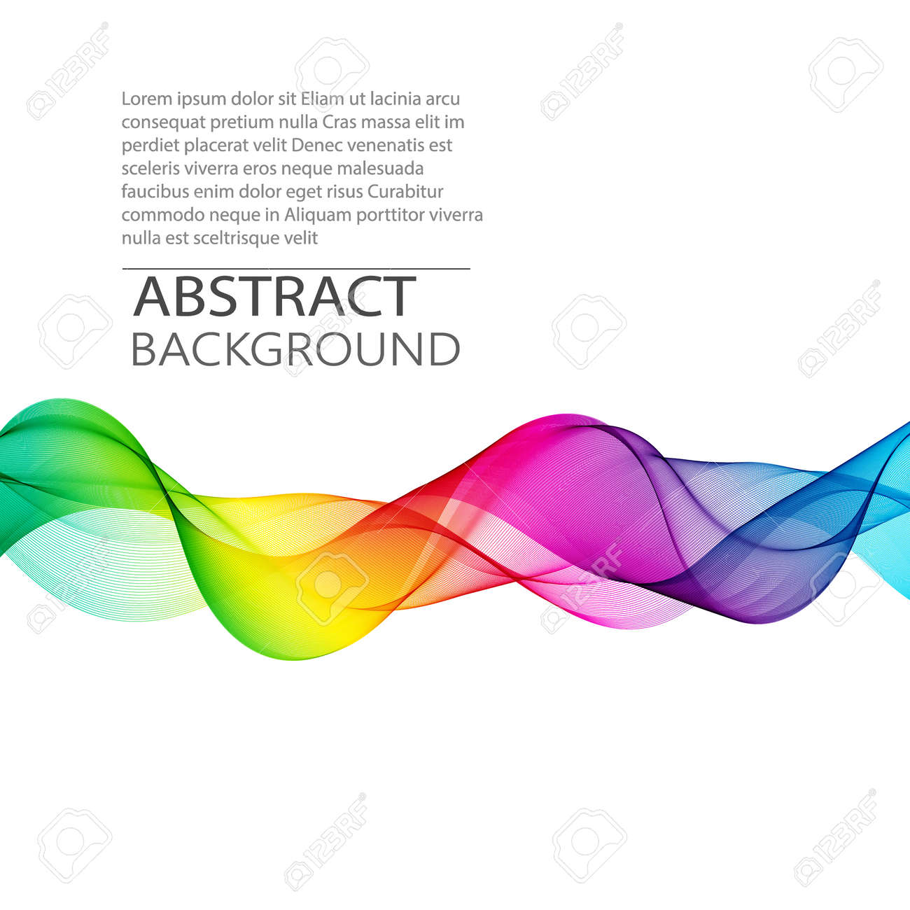 Vector Abstract smoky transparent waves background. Template brochure design - 169712454