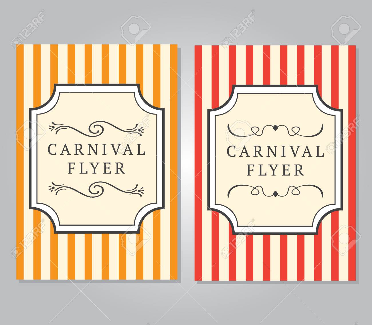 carnival flyer template royalty free cliparts vectors and stock