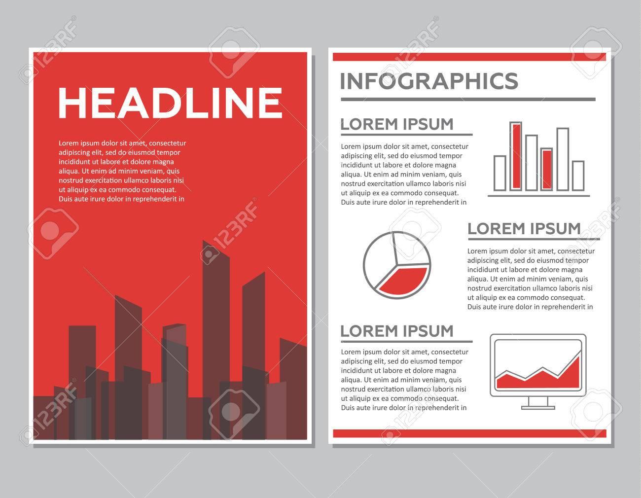 Creative Brochure Template Design With Infographic Chart Abstract - Free creative brochure templates