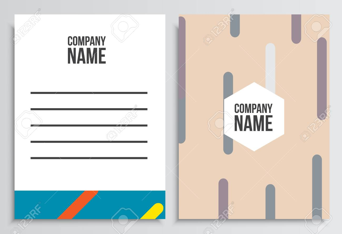 Letter Envelope With Blank Cover Corporate Identity Template