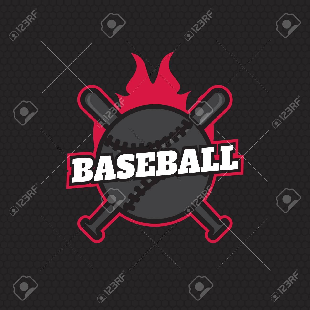 Sport Baseball Badge Templates Label Stock Vector