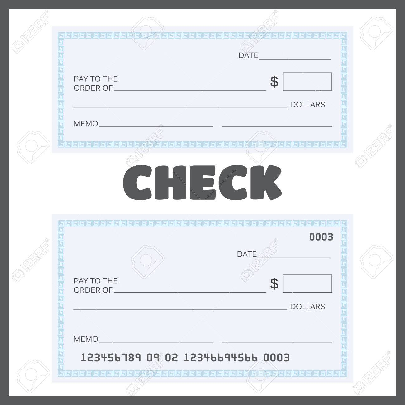 blank check bank check template set vector royalty free cliparts