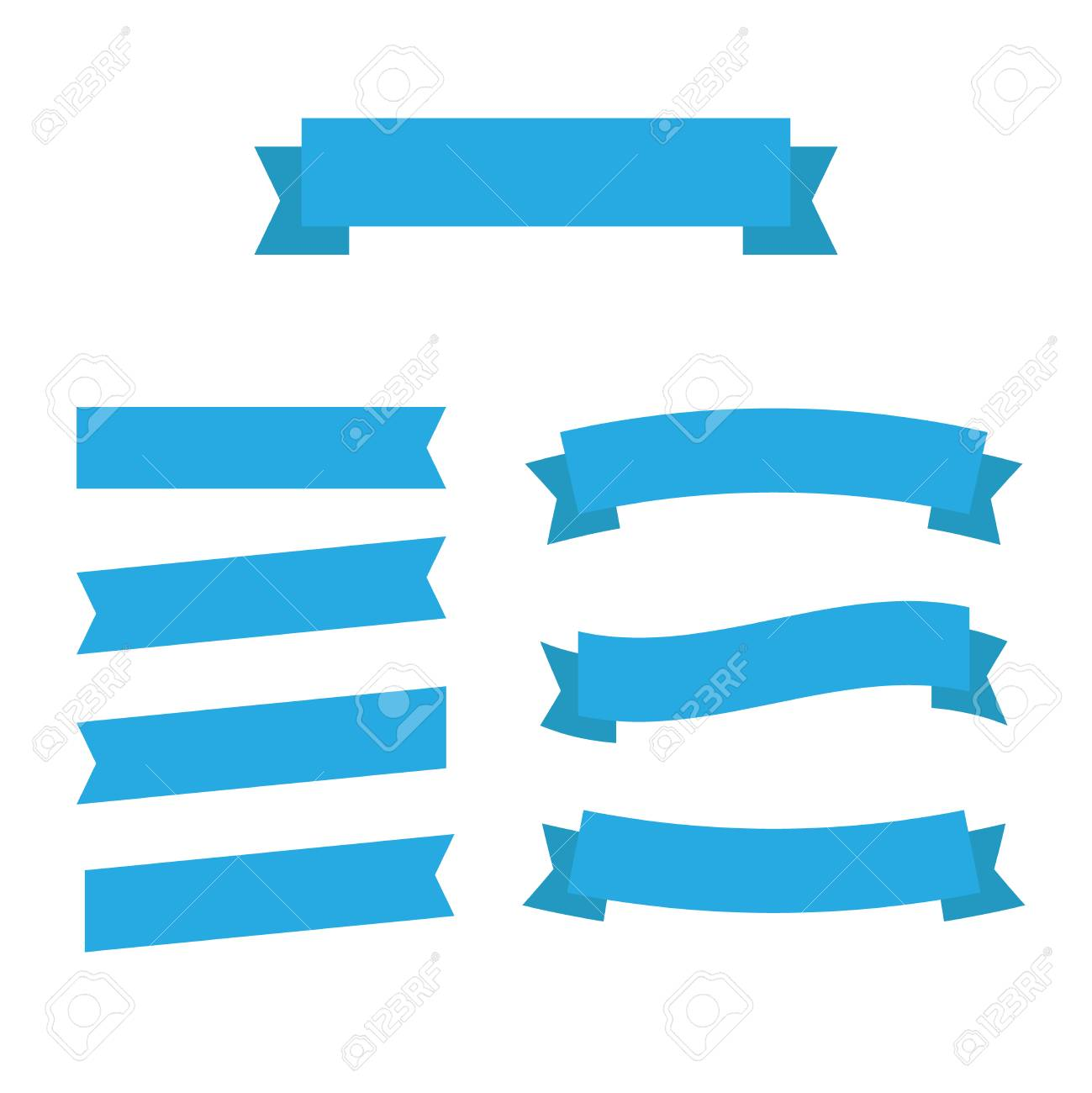 flat vector ribbons banners flat isolated ribbons banners royalty rh 123rf com vector ribbons free vector ribbon banner corel draw 2017