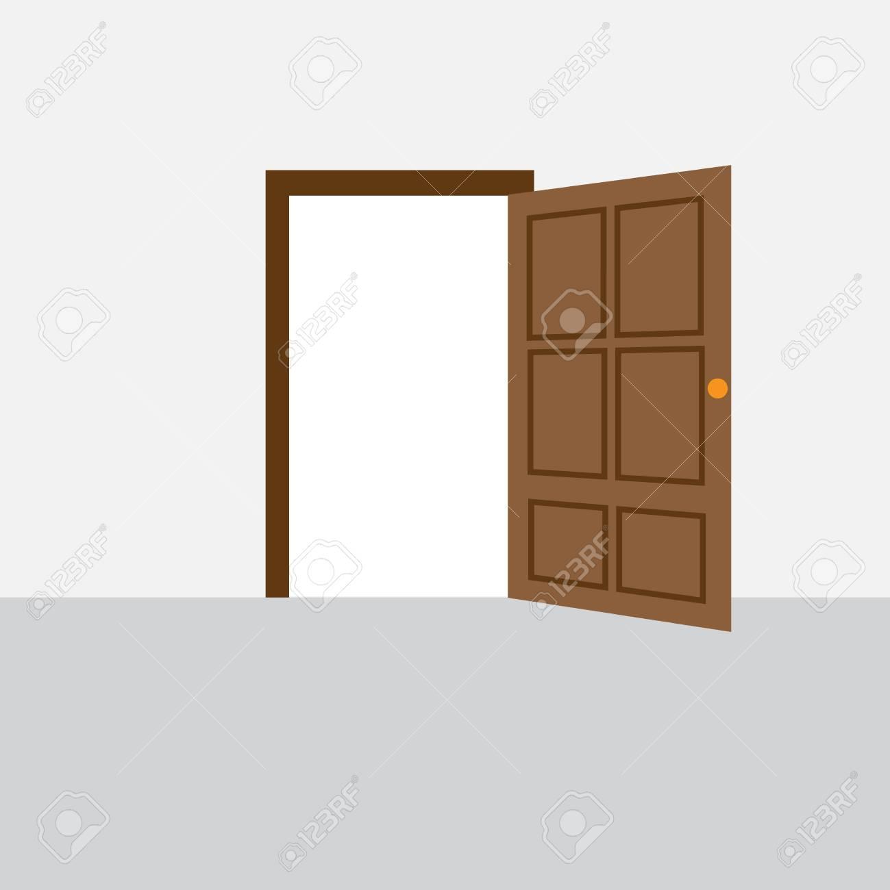 Open front door illustration Vector Illustration Open Door House Front Illustration Stock Vector 85319039 123rfcom Open Door House Front Illustration Royalty Free Cliparts Vectors