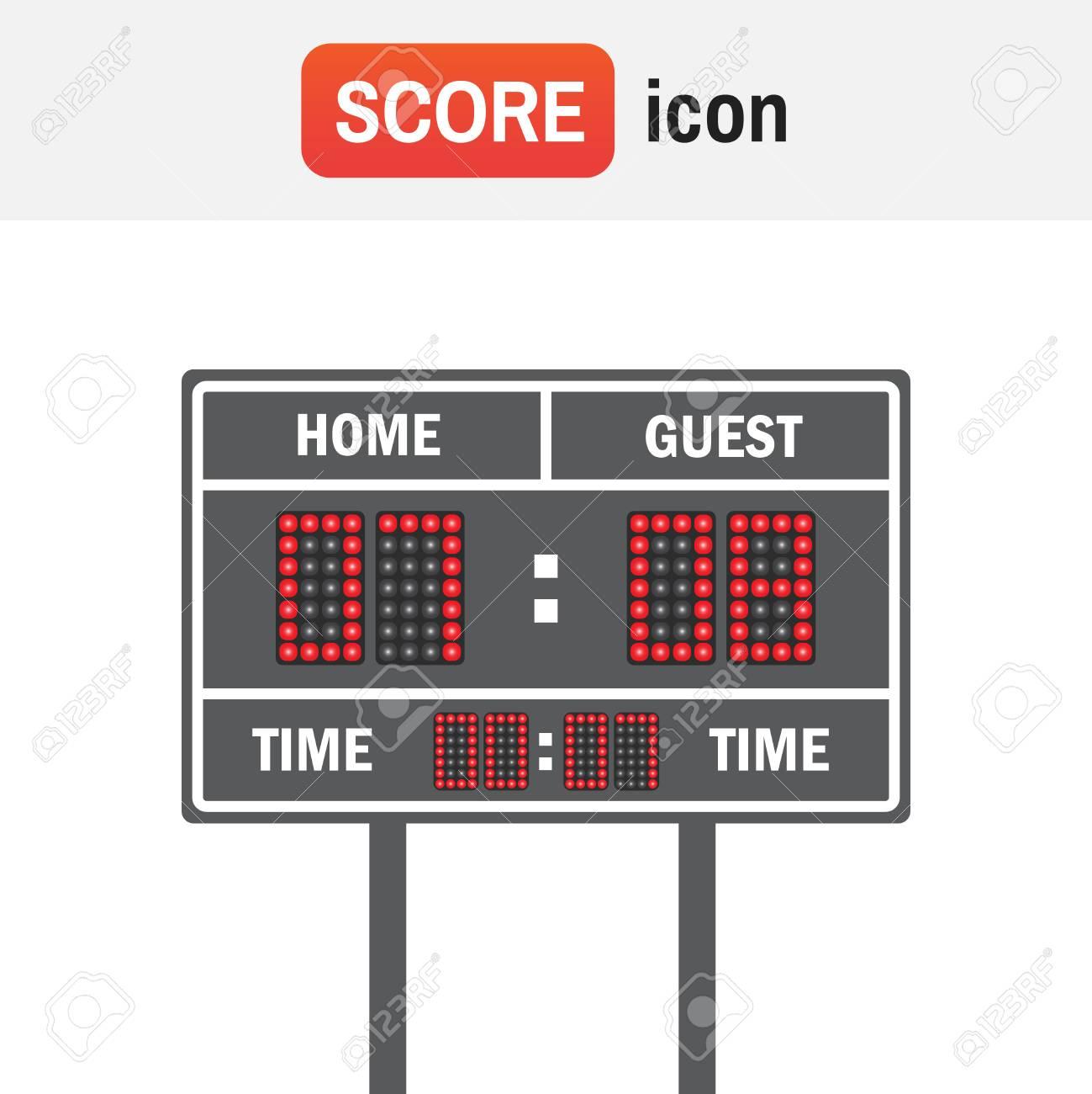Scoreboard Football American American Football Vector Scoreboard