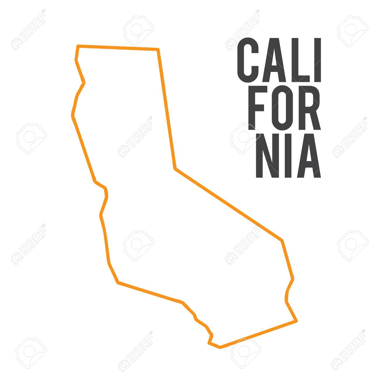 California Map Icon.California Map Sign California Icon Vector Illustration Royalty