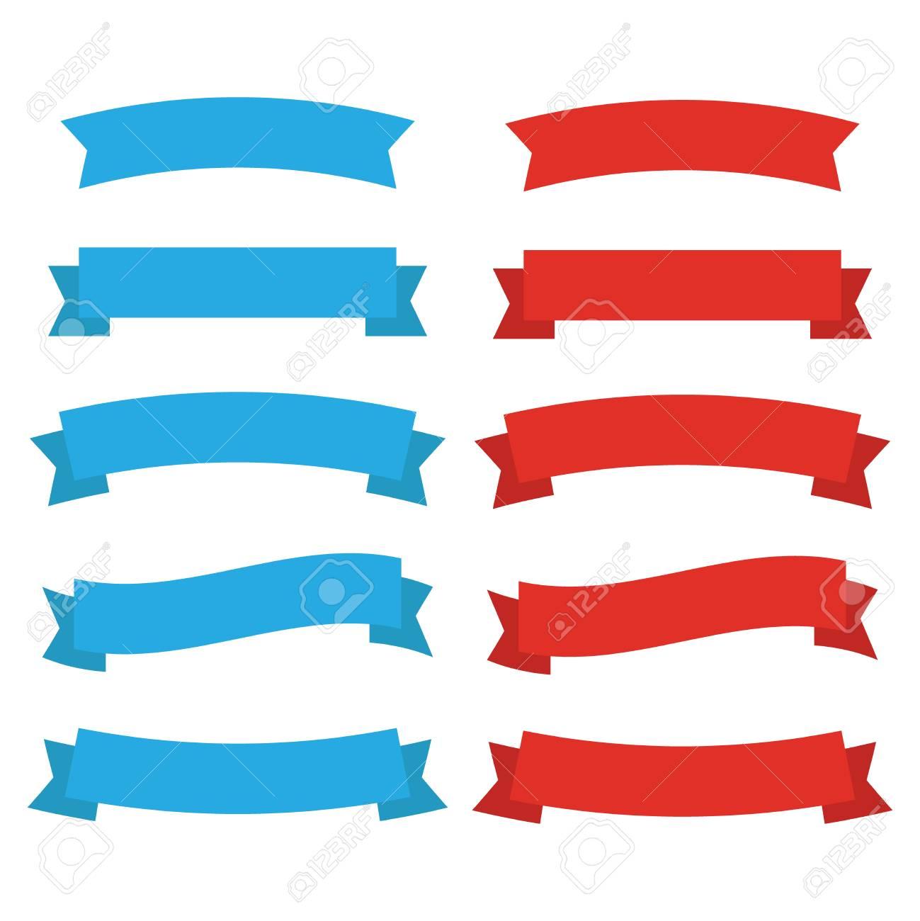 ribbons banners decor vector flat ribbons icon royalty free rh 123rf com vector ribbon banner eps vector ribbon banner corel draw 2017