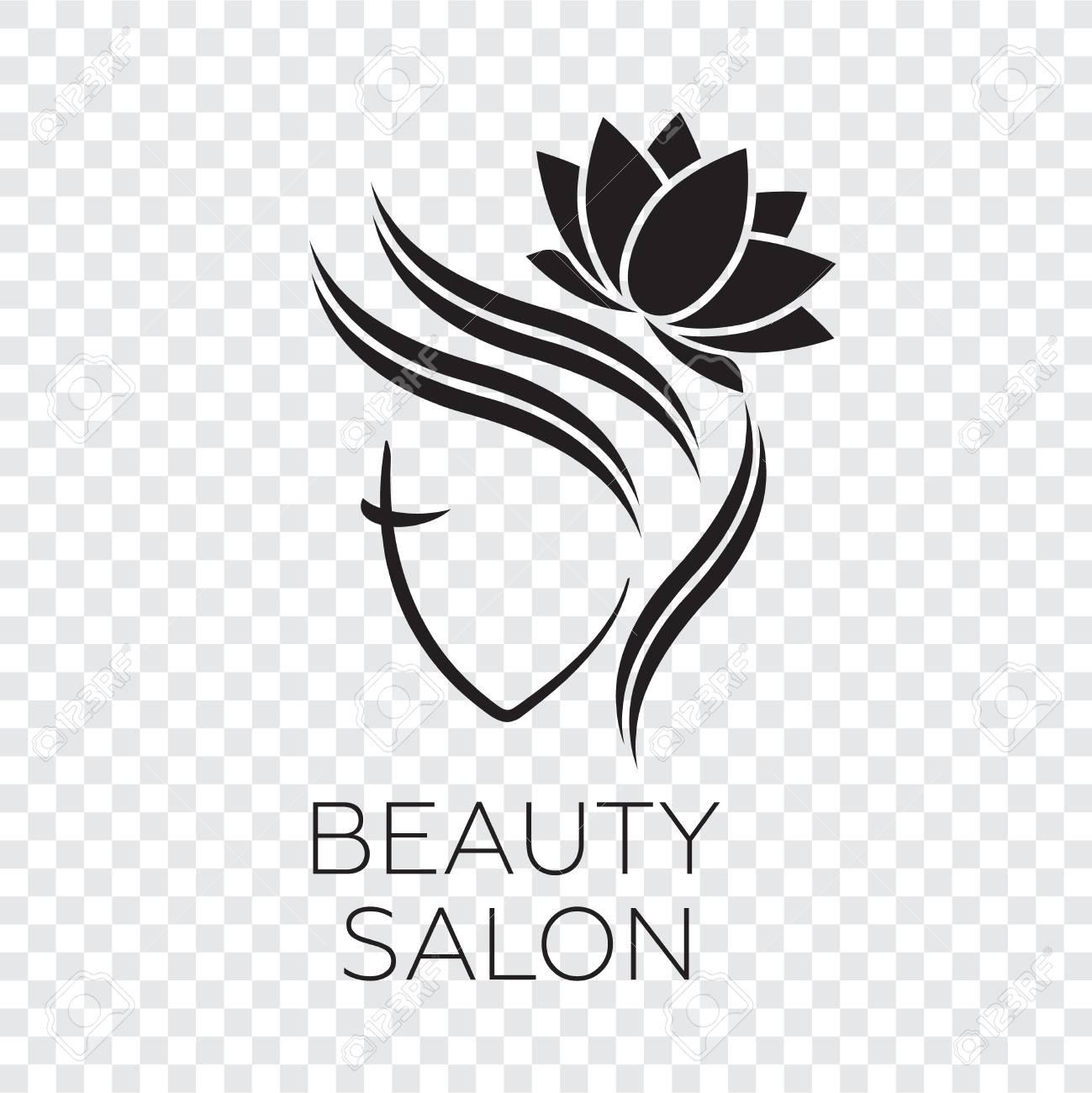Beautiful Woman Vector Logo Template For Hair Salon Logo Vector