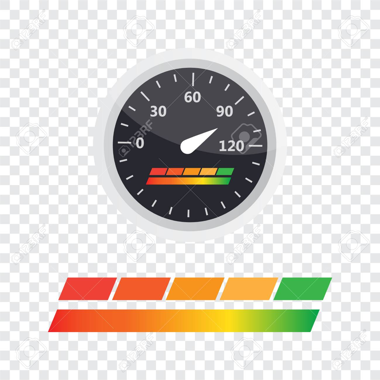 guage icon credit score indicators and gauges vector set score