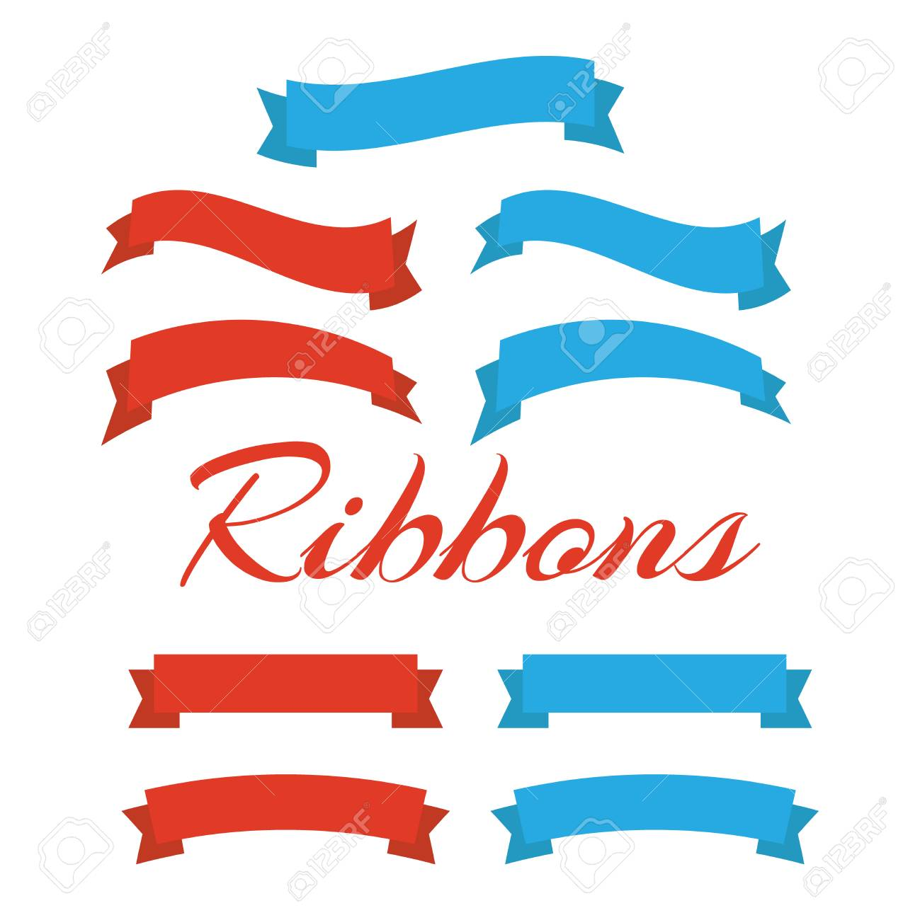 flat vector ribbons banners isolated ribbons banners royalty free rh 123rf com vector ribbon banner illustrator vector ribbon banner eps free