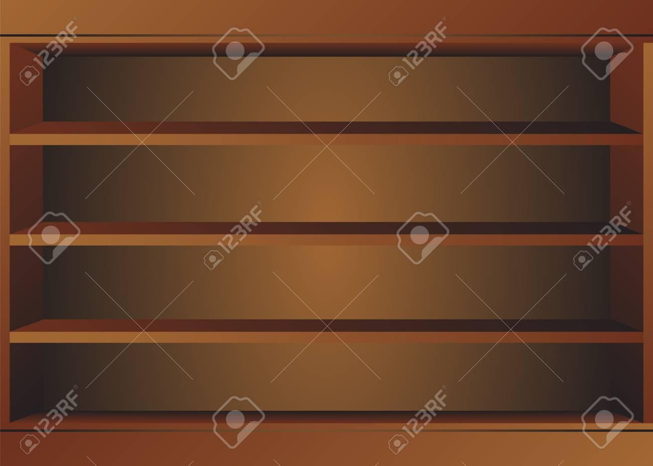Wooden Book Shelf Shop Shelves Isolated Store Shelves Retail