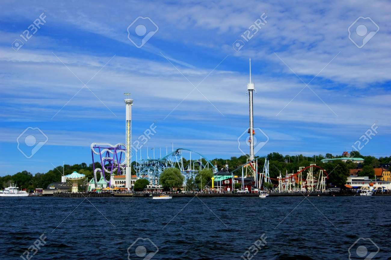 Amusement park in Stockholm on sunny summer day Stock Photo - 5303787
