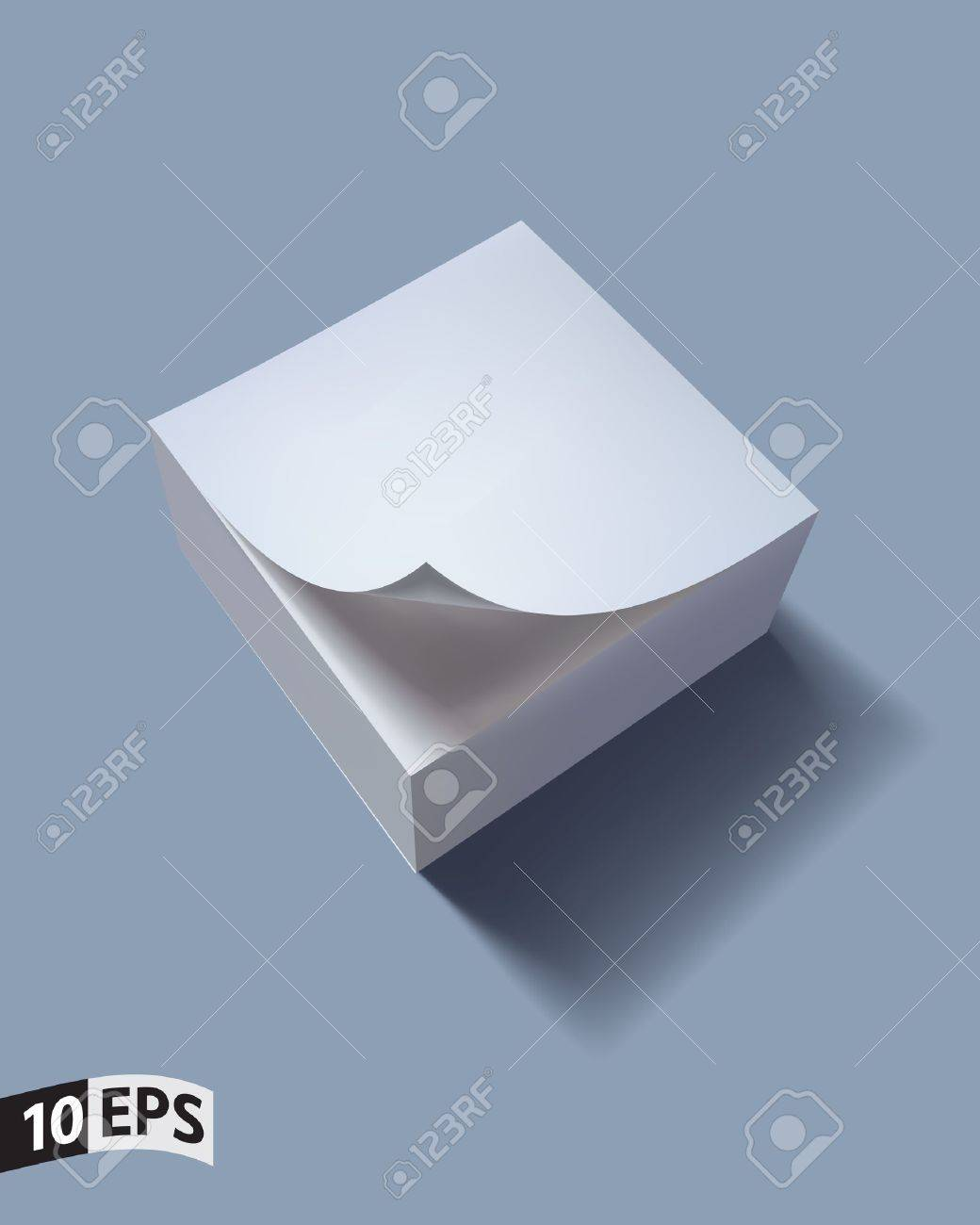 Close up of stack of papers with curl illustration - 12363011