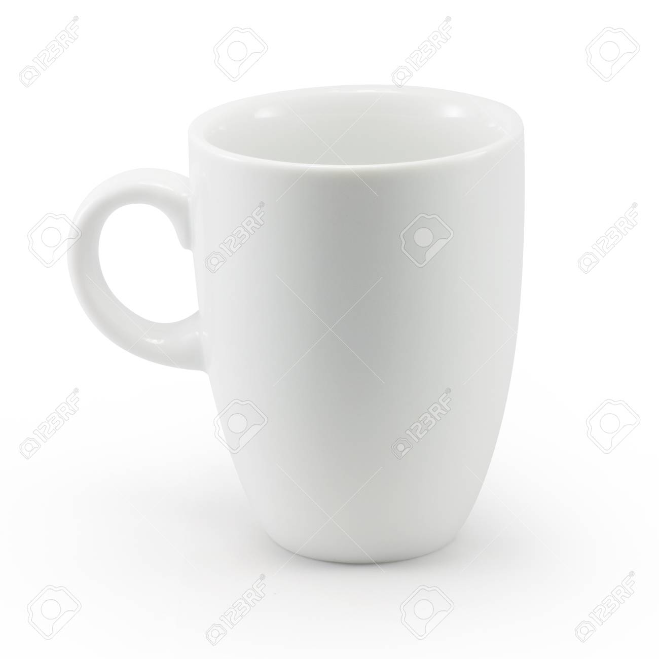 White cup isolated with clipping path - 15930649
