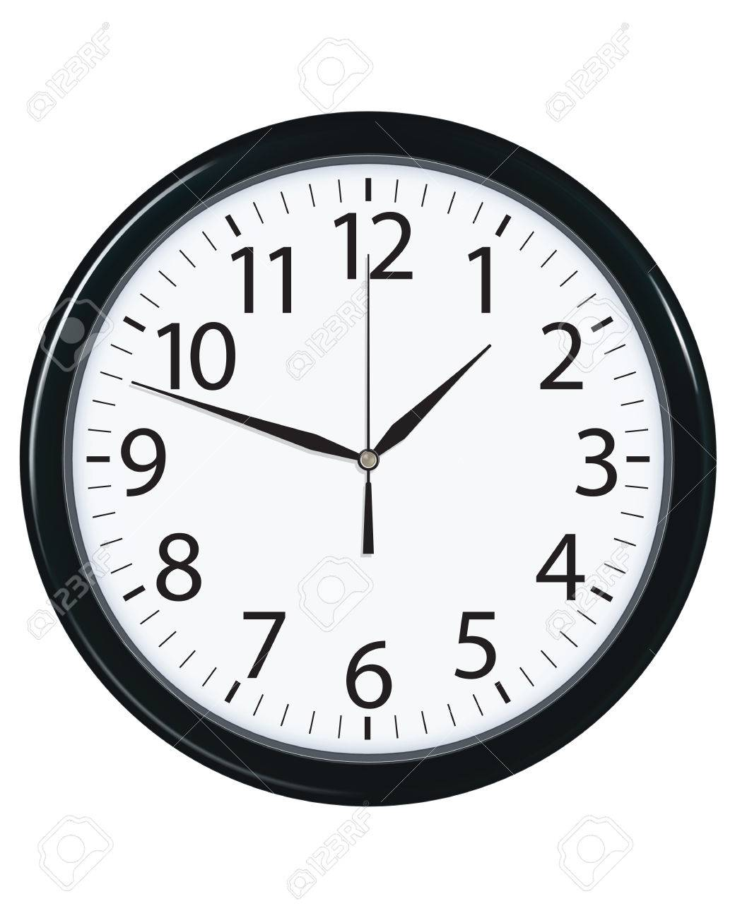 Clock face isolated. Vector illustration - 25432148