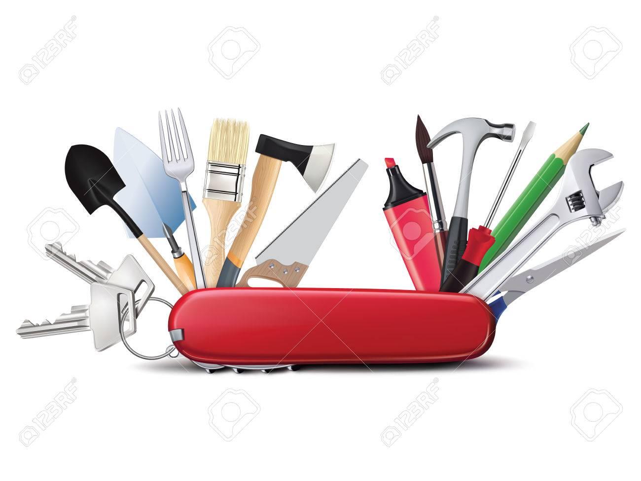 Couteau Suisse Avec Des Outils Universelle. Tout En Un ...