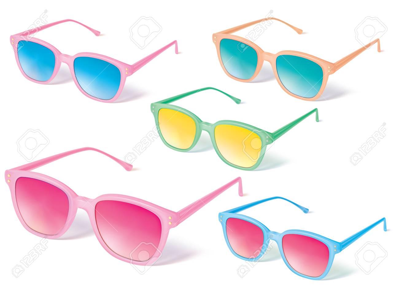 Gafas De Sol Conjunto De Iconos Vectoriales. Ilustración Vectorial ...