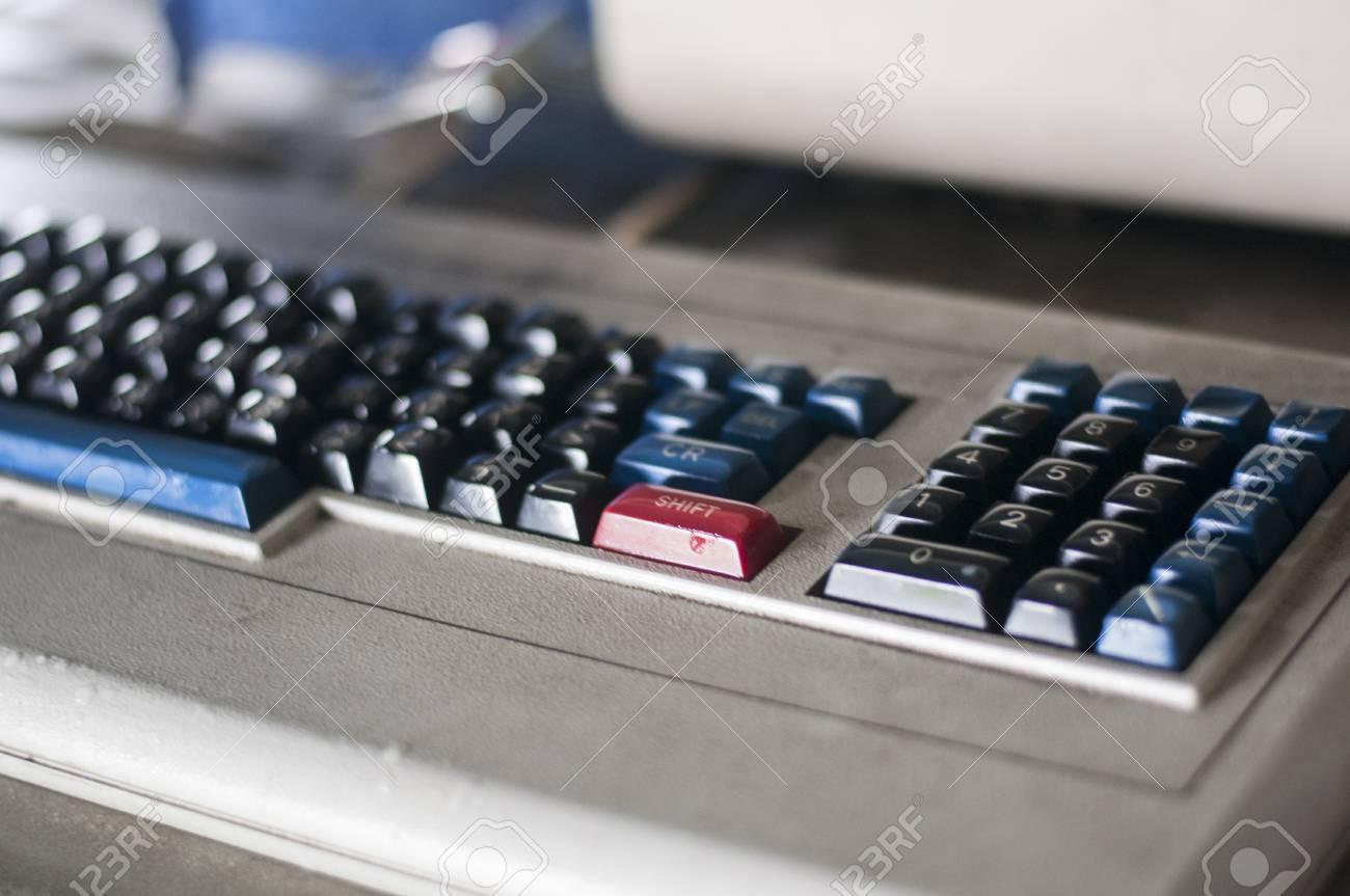 Detail of vintage computer keyboard