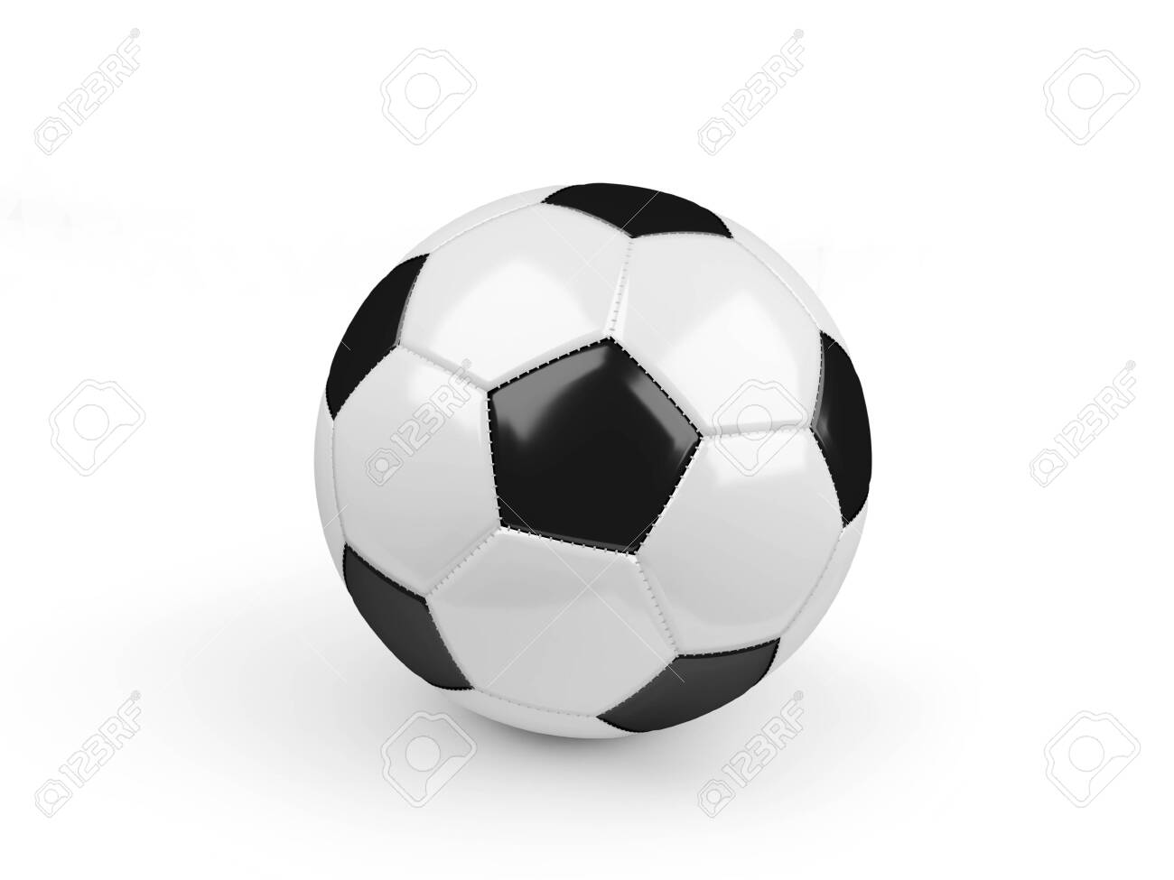 Soccer ball isolated on white - 133799454