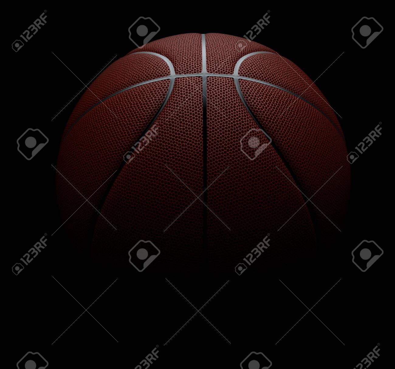 Basketball on black background. 3d render illustration - 137763053