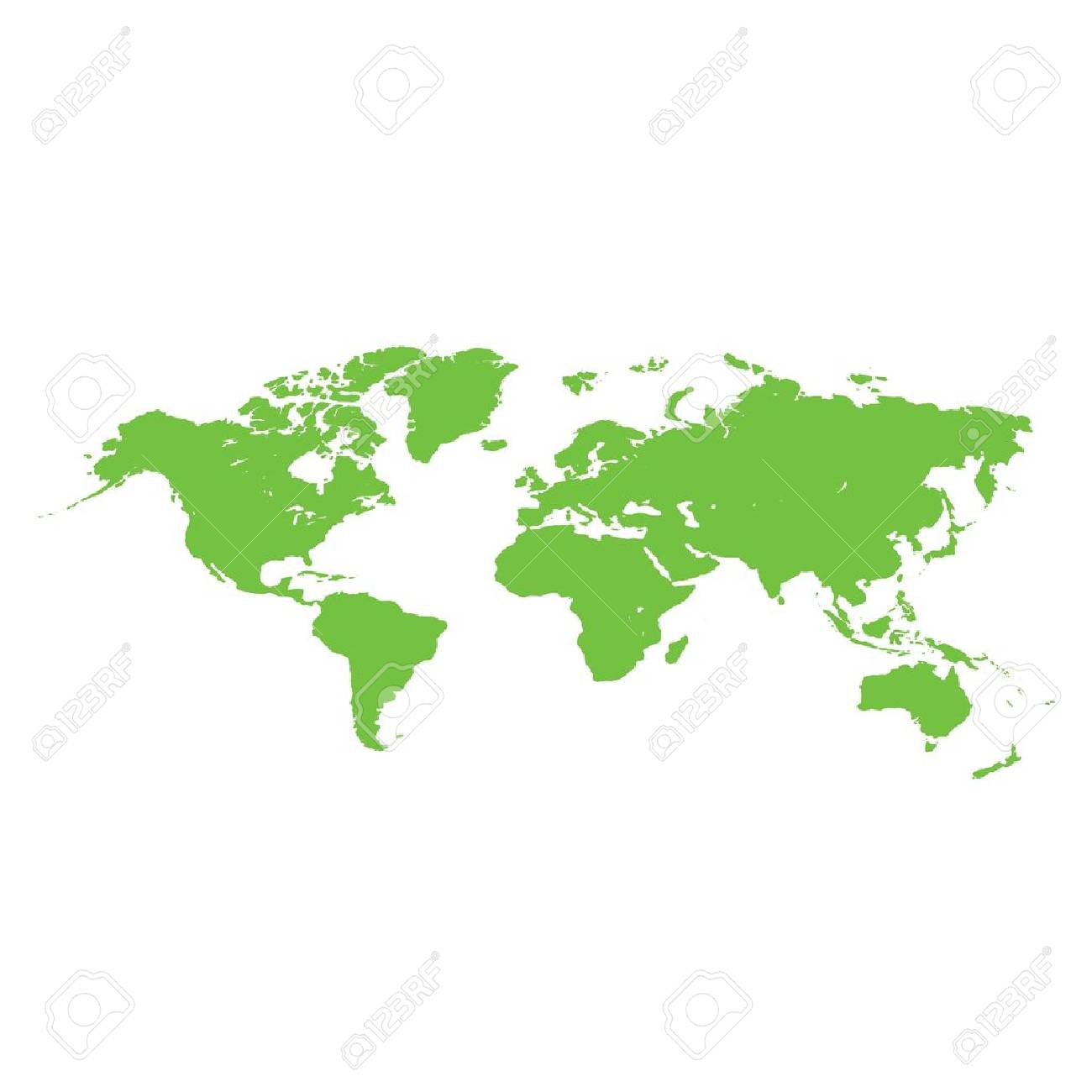 Simple green world map vector white background royalty free cliparts simple green world map vector white background stock vector 79629251 gumiabroncs Gallery