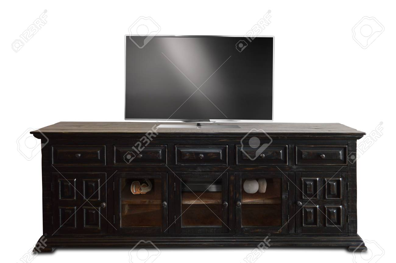 Home Living Room Console Table TV Stand Wooden Furniture with..