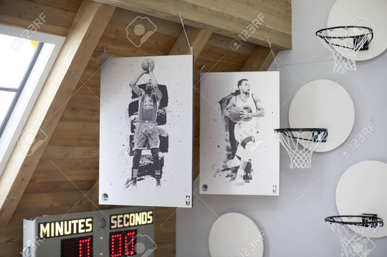 Stock Photo   Vintage Designed Basketball Goal Wall Decor Over The Door
