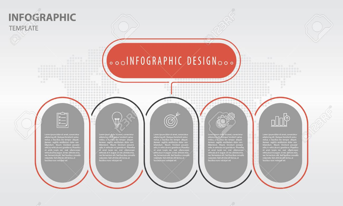 infographic template design for presentation with 4 options royalty