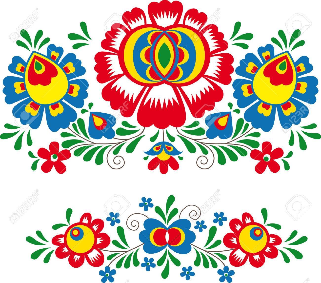 Folk ornaments - 63801375
