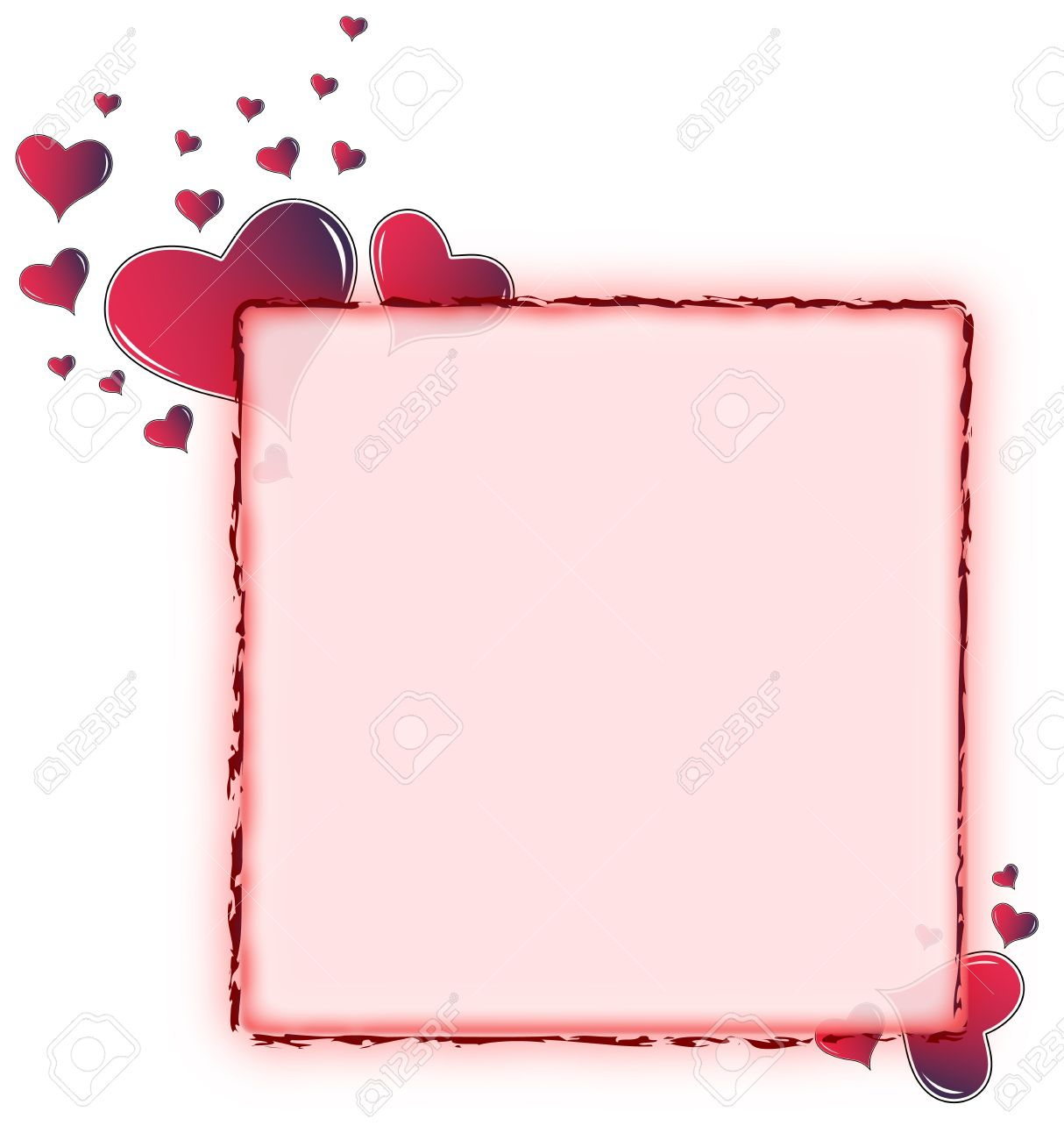 Valentine Card. Ideal Frame For Valentines Day Portrait Stock Photo ...