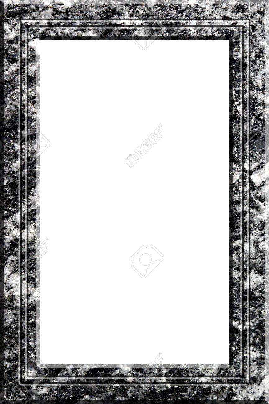 Granite Rock Frame For Pictures And Portraits Stock Photo, Picture ...
