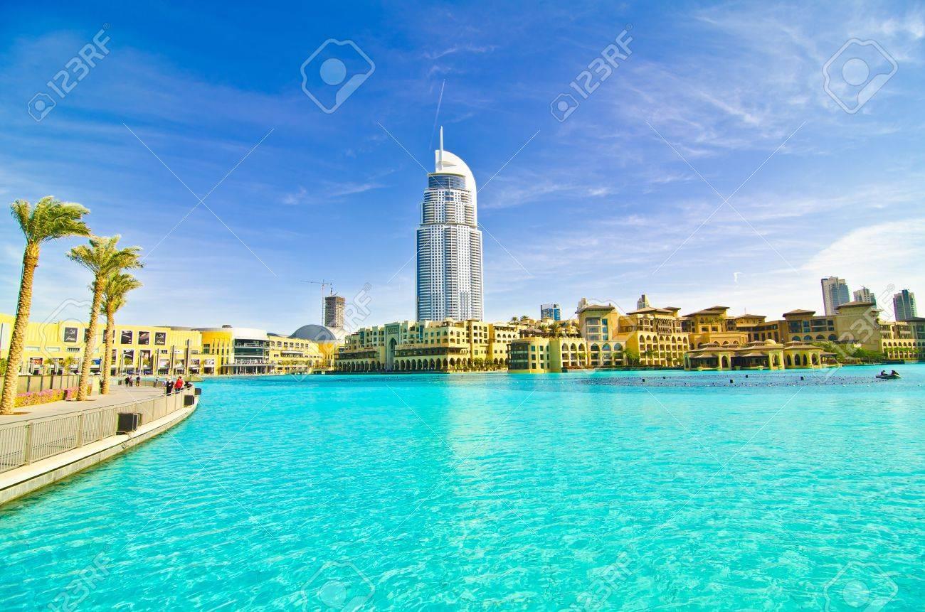 DUBAI, UAE - JANUARY 4: Burj Khalifa, world's tallest tower, Downtown Burj Dubai January 4, 2012 in Dubai, United Arab Emirates. Stock Photo - 12147521