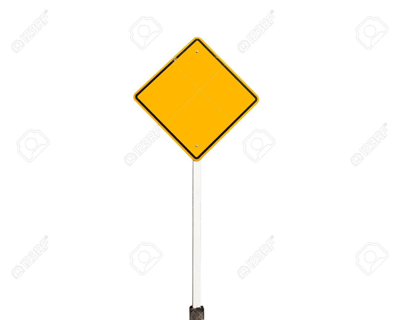 Empty old yellow road sign isolate Stock Photo - 8529745