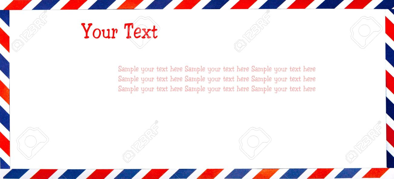 envelopment letter frame wish space for your text stock photo