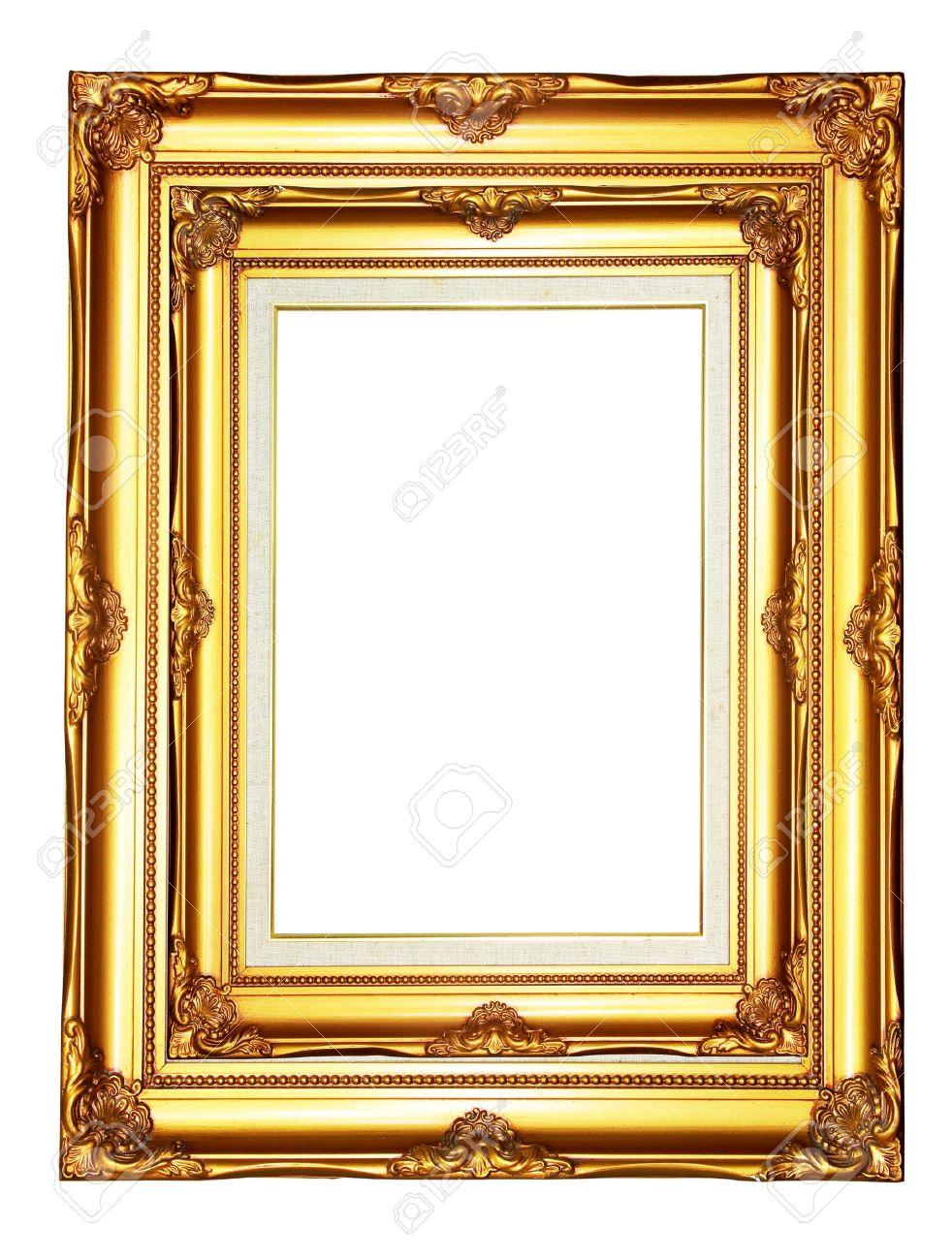 Vintage gold wood photo frame on white background stock photo vintage gold wood photo frame on white background stock photo 11802633 jeuxipadfo Gallery