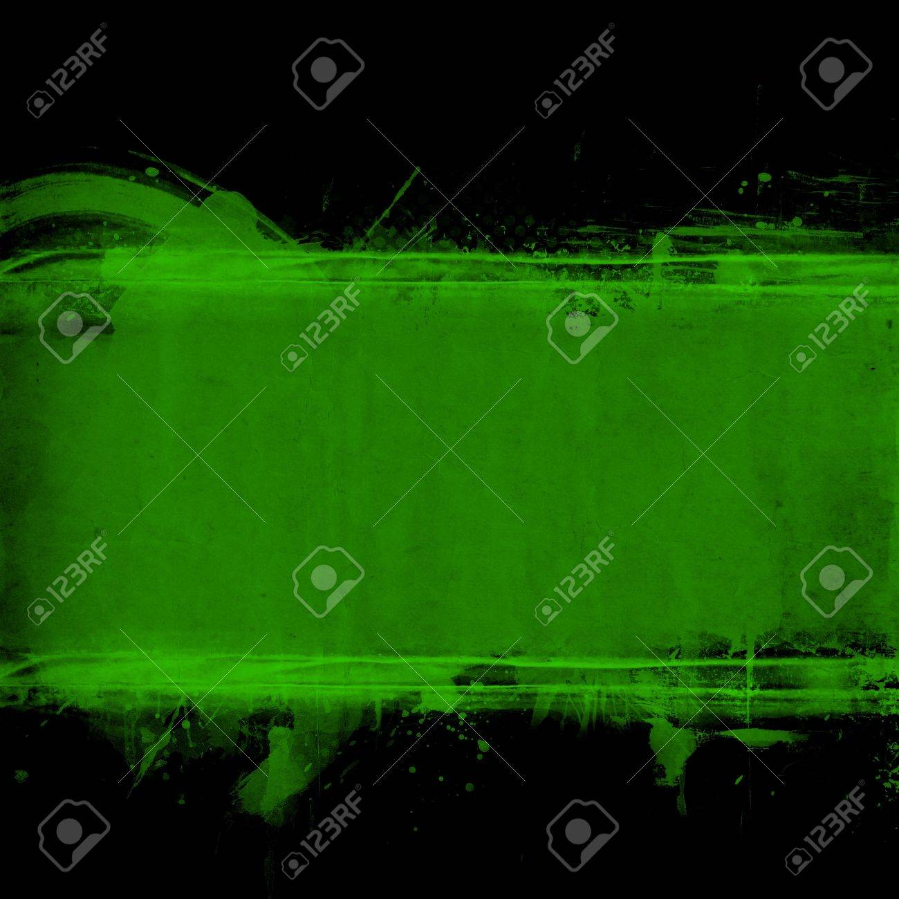 Abstract grunge green banner with space for your text Stock Photo - 12049909